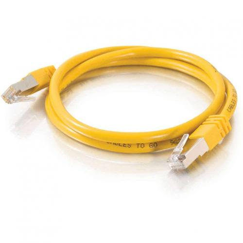 C2G 50ft Cat5e Molded Shielded (STP) Network Patch Cable   Yellow Alternate-Image1/500