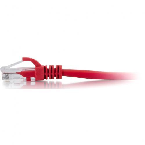 C2G 1ft Cat6 Ethernet Cable   Snagless Unshielded (UTP)   Red Alternate-Image1/500