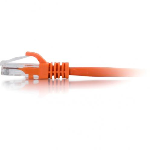 C2G 1ft Cat6 Ethernet Cable   Snagless Unshielded (UTP)   Orange Alternate-Image1/500