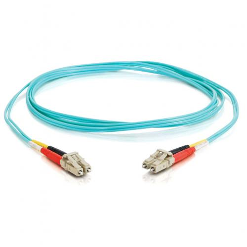 C2G 2m LC LC 10Gb 50/125 Duplex Multimode OM3 Fiber Cable   Aqua   6ft Alternate-Image1/500