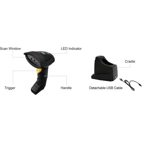 Adesso NuScan 7300CR Adesso 2.4 GHz Wireless CCD Barcode Scanner Alternate-Image1/500