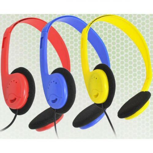 AVID AE 711 HEADPHONE WITH ADJUSTABLE HEADBAND & 3.5MM PLUG BLUE Alternate-Image1/500