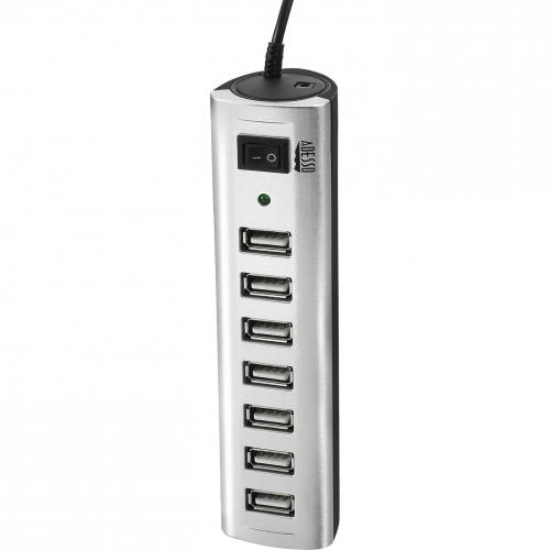 Adesso 7 Ports USB 2.0 Hub With 5V2A Power Adaptor Alternate-Image1/500