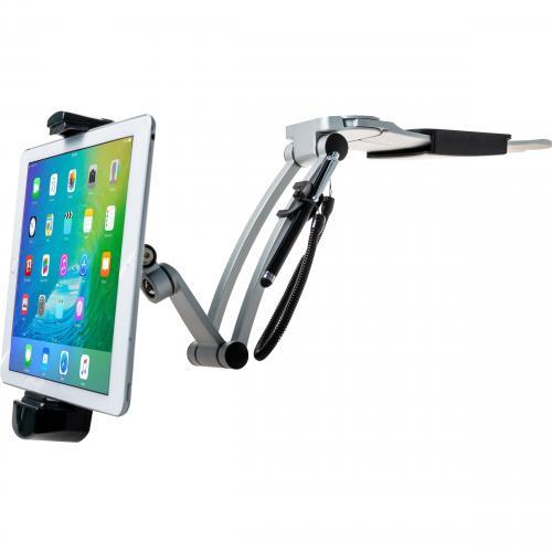 CTA Digital Multi Flex Tablet Stand + Mount???Black 360Deg Rotating Holder Alternate-Image1/500
