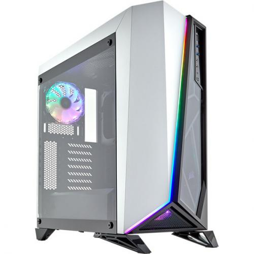 Corsair Carbide Series SPEC OMEGA RGB Mid Tower Tempered Glass Gaming Case   White Alternate-Image1/500