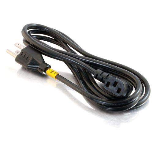 C2G 6ft 18 AWG Universal Right Angle Power Cord (NEMA 5 15P To IEC320C13R) Alternate-Image1/500