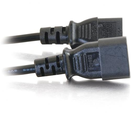 C2G 1ft 18 AWG Computer Power Extension Cord (IEC320C14 To IEC320C13) Alternate-Image1/500