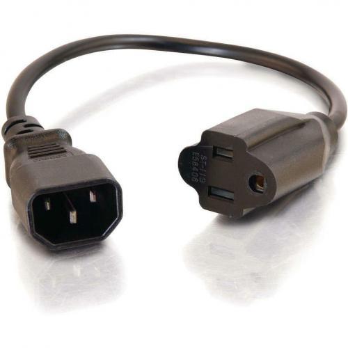 C2G 3ft 18 AWG Monitor Power Adapter Cord (IEC320C14 To NEMA 5 15R) Alternate-Image1/500