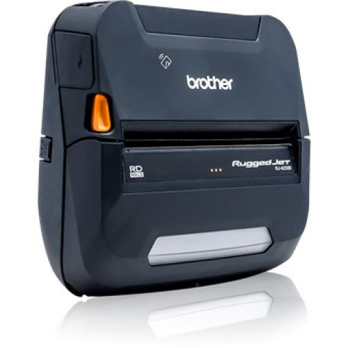Brother RuggedJet RJ4230BL Direct Thermal Printer   Monochrome   Portable   Label/Receipt Print Alternate-Image1/500