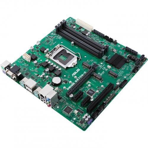 Asus Prime Q370M C/CSM Desktop Motherboard   Intel Chipset   Socket H4 LGA 1151   Intel Optane Memory Ready   Micro ATX Alternate-Image1/500