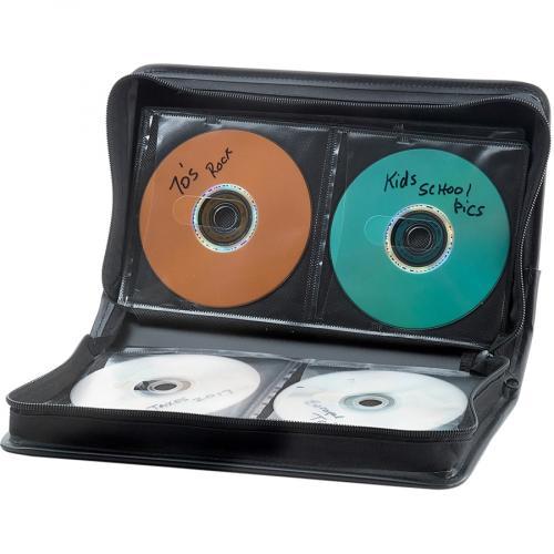 Verbatim CD/DVD Storage Wallet ?64 Ct. Black Alternate-Image1/500
