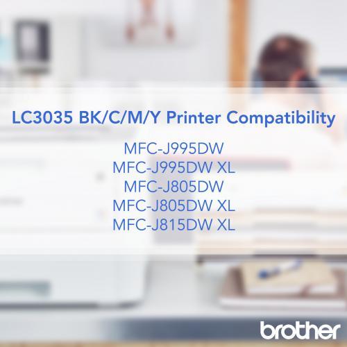 LC3035BK BLACK INK CARTRIDGE F/ MFC J995DW MFC J995DWXL ULTRA HY Alternate-Image1/500