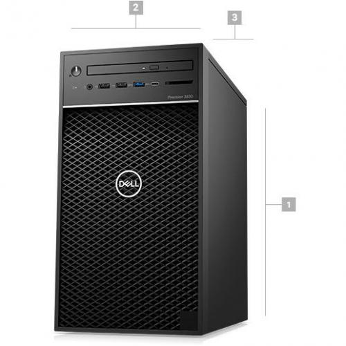Dell Precision 3630 Workstation Intel Core I7 16GB RAM 1TB HDD 256GB SSD   8th Gen I7 8700K Hexa Core   NVIDIA Quadro P1000 4 GB Graphics   Intel Optane Memory Ready   Tower Form Factor   Windows 10 Pro Alternate-Image1/500