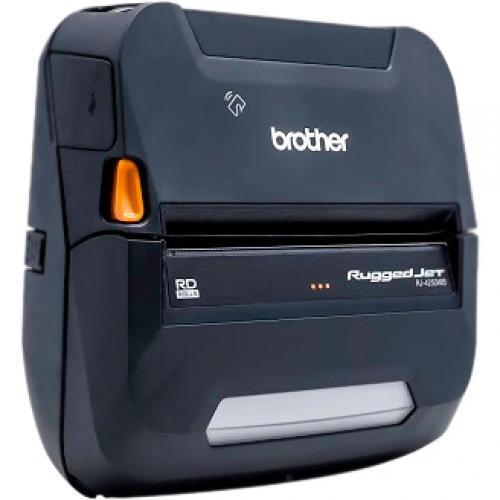Brother RuggedJet RJ4250WBL Direct Thermal Printer   Monochrome   Portable   Label/Receipt Print Alternate-Image1/500