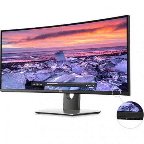 "Dell UltraSharp 34"" Curved Monitor     3440 X 1440 WQHD Display   60 Hz Refresh Rate   In Plane Switching Technology   Picture In Picture Features   Dual 9W Speakers Alternate-Image1/500"