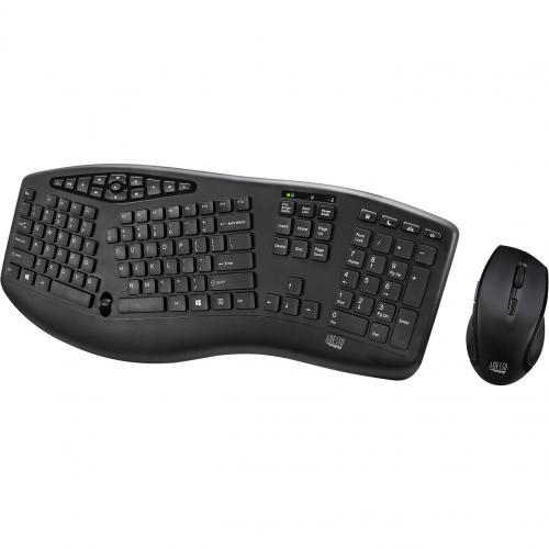 Adesso TruForm Media 1600   Wireless Ergonomic Keyboard And Optical Mouse Alternate-Image1/500
