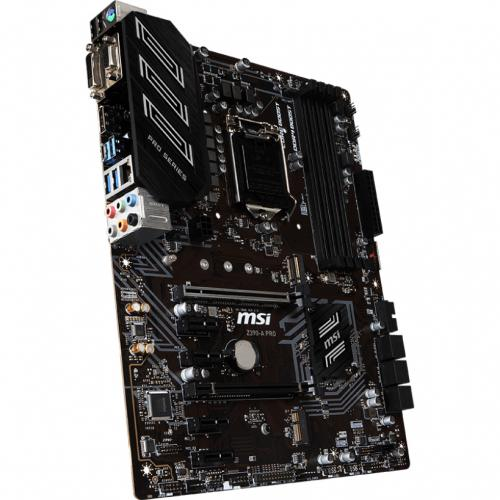 MSI Z390 A PRO Desktop Motherboard   Intel Chipset   Socket H4 LGA 1151   64 GB DDR4 SDRAM   4 X Memory Slots   4 X USB 3.1 Port   6 X SATA Interfaces Alternate-Image1/500