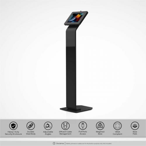 CTA Digital Premium Locking Floor Stand Kiosk Alternate-Image1/500