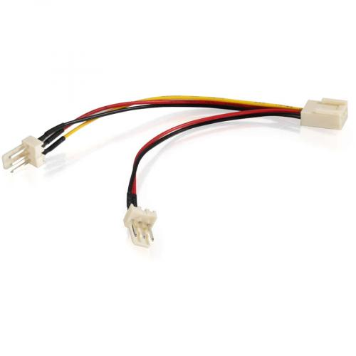 C2G 4in 3 Pin Fan Power Y Cable Alternate-Image1/500