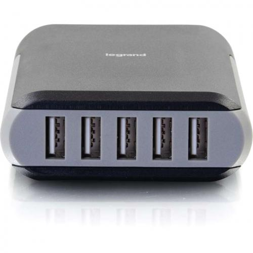 C2G 5 Port USB Wall Charger   AC To USB Adapter, 5V 8A Output Alternate-Image1/500