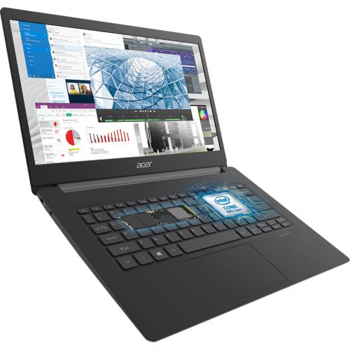 "Acer TravelMate X5 X514 51T TMX514 51T 56W8 14"" Touchscreen Notebook   Full HD   1920 X 1080   Intel Core I5 (8th Gen) I5 8265U Quad Core (4 Core) 1.60 GHz   8 GB RAM   256 GB SSD Alternate-Image1/500"