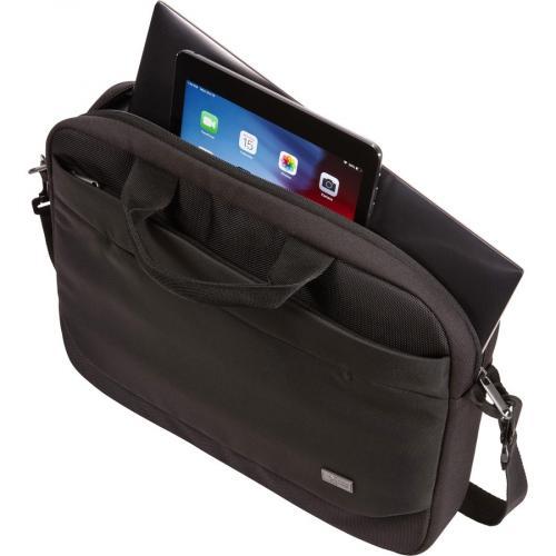 "Case Logic Advantage Carrying Case (Attaché) For 14"" Notebook, Tablet PC, Pen, Portable Electronics, Cord, Cellular Phone, File   Dark Blue Alternate-Image1/500"
