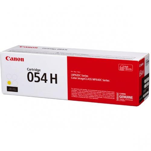 Canon 054H Original Toner Cartridge   Yellow Alternate-Image1/500