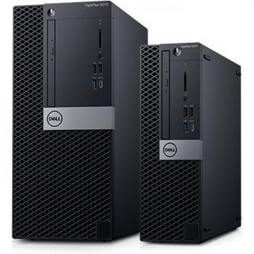 Dell OptiPlex 5000 5070 Desktop Computer   Intel Core I7 9th Gen I7 9700 3 GHz   8 GB RAM DDR4 SDRAM   500 GB HDD   Small Form Factor Alternate-Image1/500