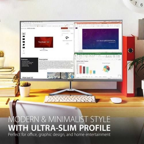 "Viewsonic VX3276 4K MHD 31.5"" 4K UHD WLED LCD Monitor   16:9   Silver Alternate-Image1/500"