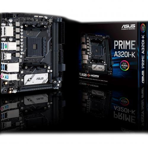 Asus Prime A320I K Desktop Motherboard   AMD Chipset   Socket AM4   Mini ITX Alternate-Image1/500