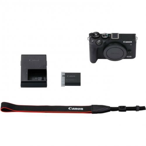 Canon EOS M6 Mark II 32.5 Megapixel Mirrorless Camera Body Only   Black Alternate-Image1/500