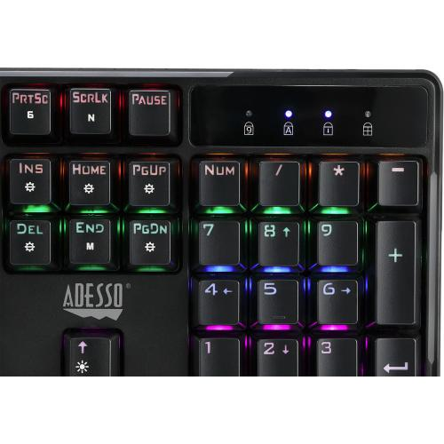 Adesso Multi Color Illuminated Mechanical Gaming Keyboard Alternate-Image1/500