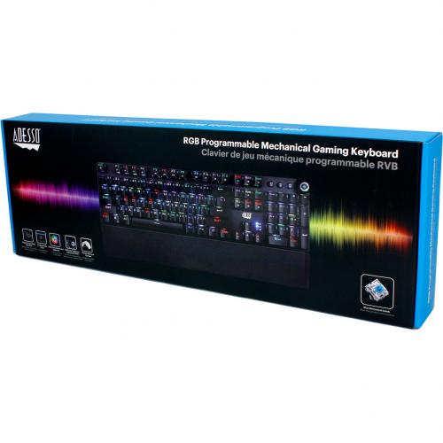 Adesso RGB Programmable Mechanical Gaming Keyboard With Detachable Magnetic Palmrest Alternate-Image1/500