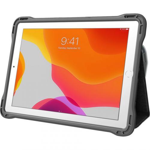 "Brenthaven Edge Folio III Carrying Case (Folio) For 10.2"" Apple IPad (7th Generation) Tablet   Gray, Translucent Alternate-Image1/500"