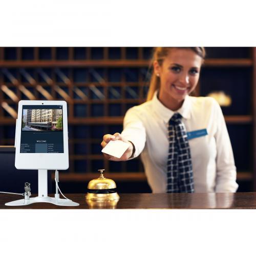 CTA Digital Desk Mount For IPad, IPad Air, IPad Pro, Card Reader   White Alternate-Image1/500