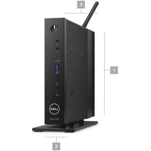 Wyse 5000 5070 Thin Client   Intel Pentium Silver J5005 Quad Core (4 Core) 1.50 GHz Alternate-Image1/500