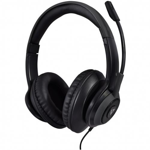 V7 Premium Over Ear Stereo Headset With Boom Mic Alternate-Image1/500