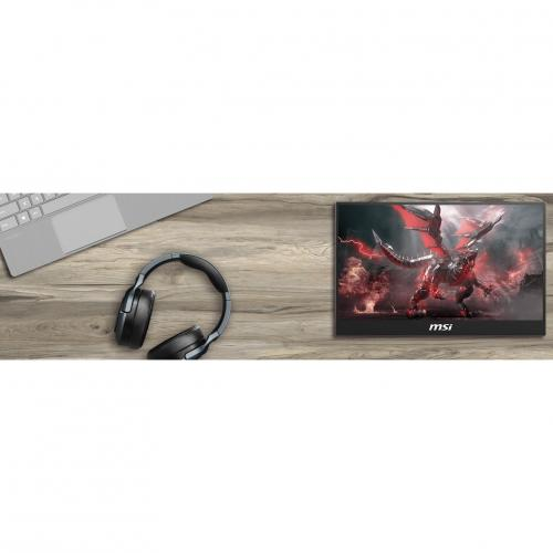 """MSI Optix MAG161V 15.6"""" Full HD LCD Portable Monitor   1920 X 1080 Full HD Display @ 60Hz   In Plane Switching (IPS) Technology   Only Weighs 2 Lbs For Portability   Designed For Gamers & Professionals   USB Type C & HDMI Connections Alternate-Image1/500"""