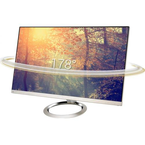 "Asus Designo MX27UCS 27"" 4K UHD LED LCD Monitor   16:9   Icicle Gold, Black Alternate-Image1/500"