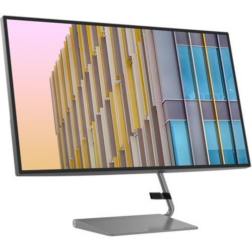 "Lenovo Q27h 10 27"" WQHD WLED LCD Monitor   16:9   Gray Alternate-Image1/500"