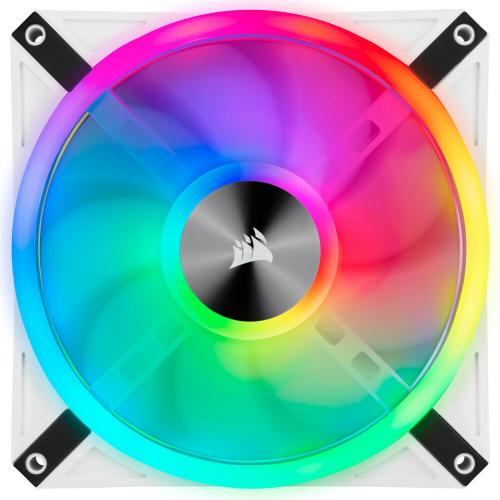 Corsair QL Series, ICUE QL140 RGB, 140mm RGB LED PWM White Fan, Single Fan Alternate-Image1/500