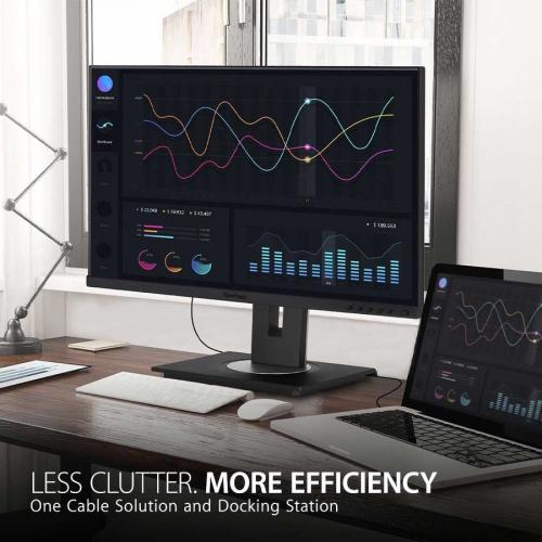 "Viewsonic VG2456 23.8"" Full HD WLED LCD Monitor   16:9   Black Alternate-Image1/500"