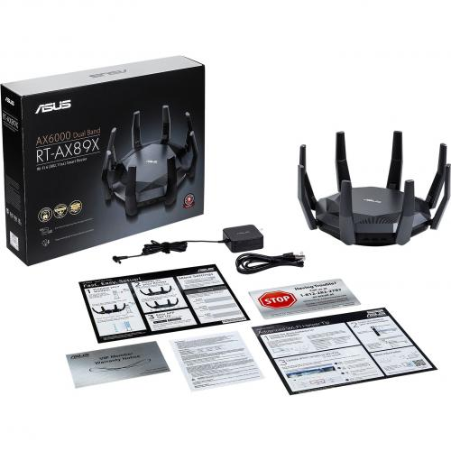 Asus RT AX89X IEEE 802.11ax Ethernet Modem/Wireless Router Alternate-Image1/500