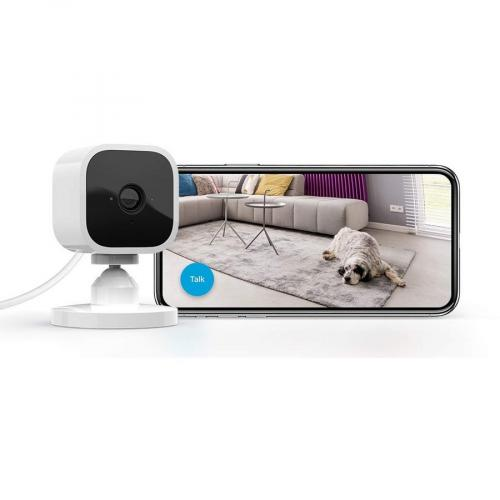Blink Mini ? Compact Indoor Plug In Smart Security Camera, 1080 HD Video, Night Vision, Motion Detection, Two Way Audio, Works With Alexa ? 2 Cameras Alternate-Image1/500