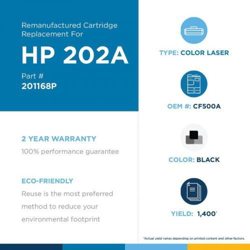 Clover Technologies Remanufactured Toner Cartridge   Alternative For HP 202A   Black Alternate-Image1/500