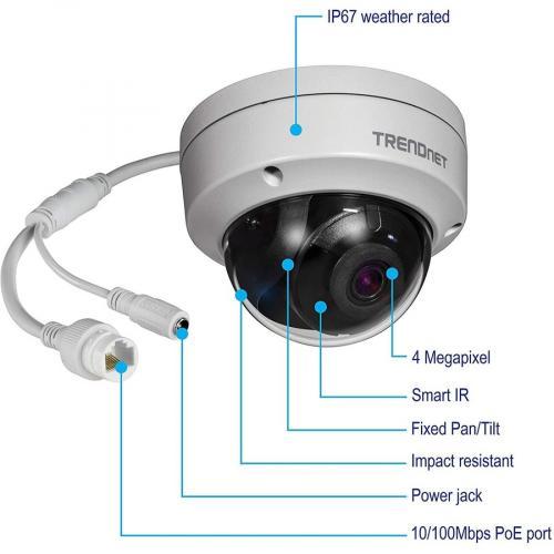 TRENDnet TV IP315PI 4 Megapixel Network Camera   Dome Alternate-Image1/500