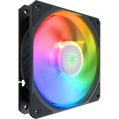 Cooler Master SickleFlow 120 V2 ARGB 120mm Square Frame Fan, Customizable LEDs, Air Balance Curve Blade Design, Sealed Bearing, PWM Control For Computer Case & Liquid Radiator Alternate-Image1/500