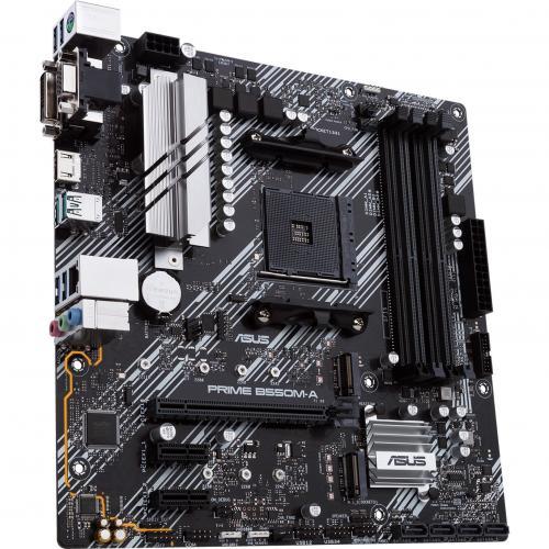 Asus Prime B550M A/CSM Desktop Motherboard   AMD Chipset   Socket AM4   Micro ATX Alternate-Image1/500