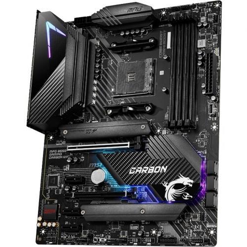 MSI MPG B550 GAMING CARBON WIFI Desktop Motherboard   AMD Chipset   Socket AM4   ATX Alternate-Image1/500