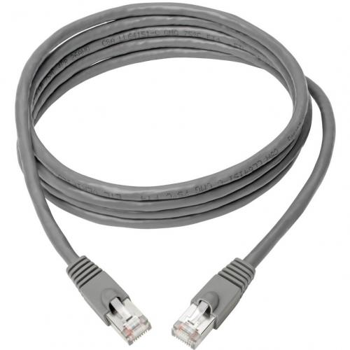 Tripp Lite Cat6a Ethernet Cable 10G STP Snagless Shielded PoE M/M Gray 8ft Alternate-Image1/500